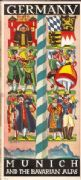 German poster - Munich and the bavarian alps poster